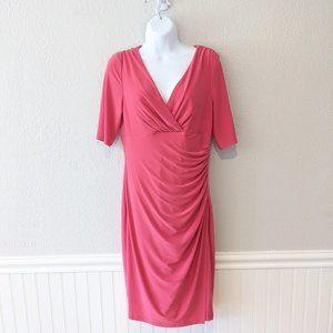 Lauren Ralph Lauren Watermelon Faux Wrap Dress